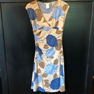 Wishes Dress Size Med blue, brown, cream colored